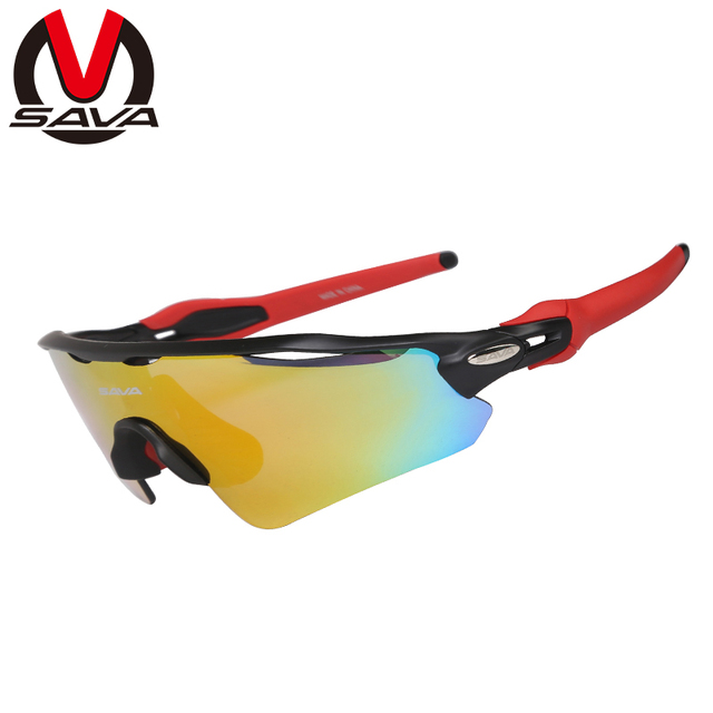 7204edebf6f SAVA New Polarized Cycling Glasses Set UV400 Bike Sunglasses for Men Women  Sports Eyewear Bicycle Goggles with 5 Lens SY03