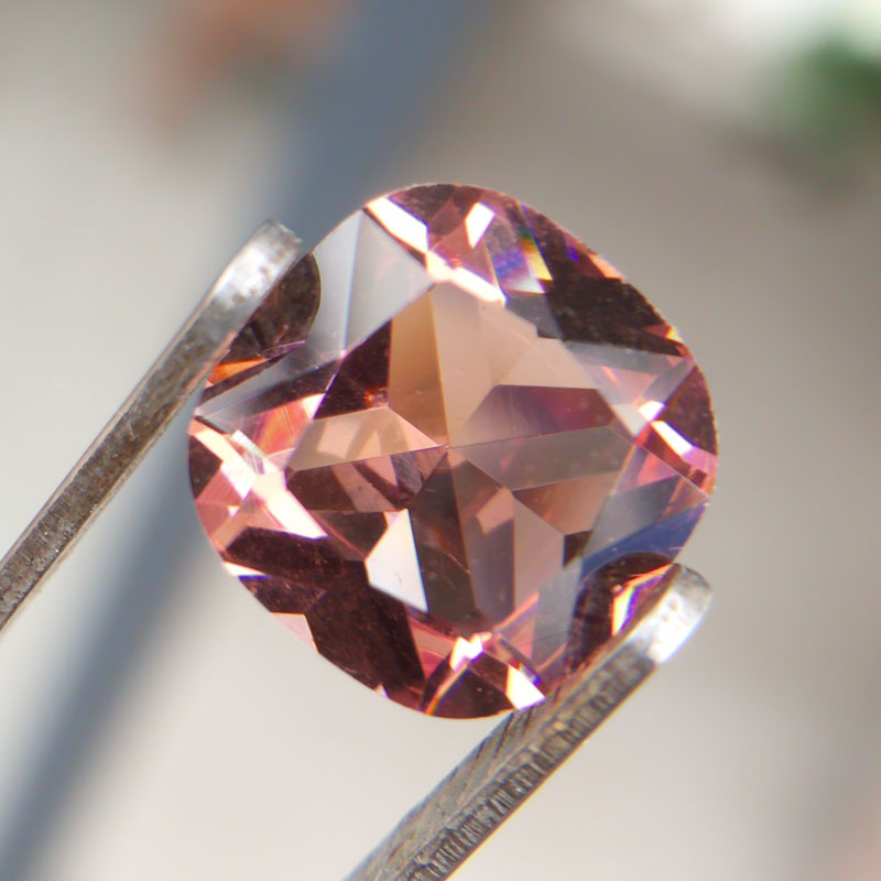 CSJ Created Diaspore Zultanite Loose Gemstone Cushion Cut Sultanite For Diy Fine Jewelry 925 Silver Mounting Color Change Stone