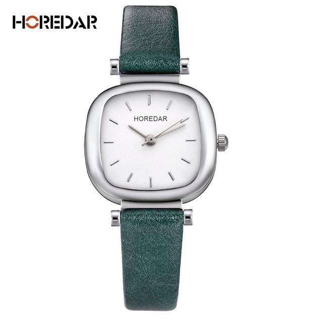 HOREDAR Elegant Steel Mesh Quartz Watches Women Simple Square Bracelet Wrist Watch Female Gift Wristwatch Relojes Feminino