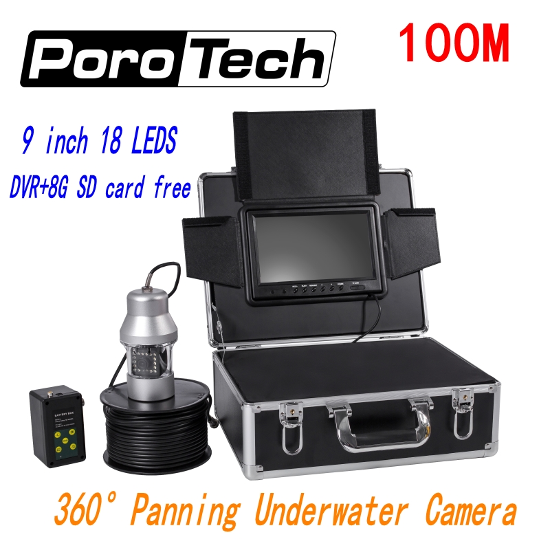 все цены на F08A 100M 360 Degree Underwater Rotating Fishing Camera 9