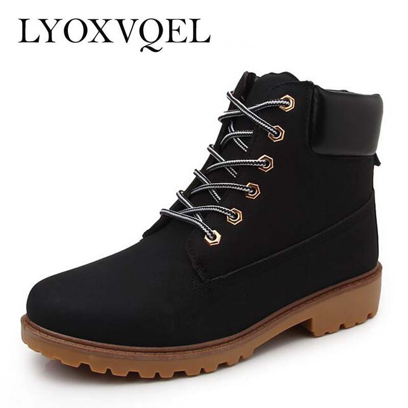 Faux Suede Leather Men Boots Spring Autumn And Winter Man Shoes Ankle Boot Men's Snow boots  Plus Size 39-46 M196