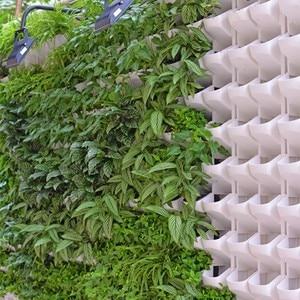Image 5 - 4 color Stackable Wall Hanging Planter Flower Pot Garden Flower Pots Wall Vertical Succulents Plant Pot Bonsai Green Home Decor
