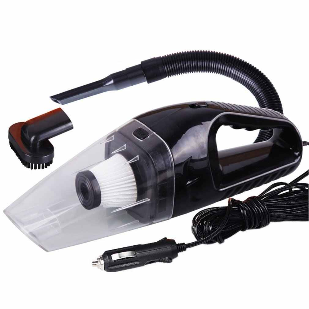 Portable Mini 12V 120W Power Wet and Dry Dual-use Super Suction Handheld Car Vacuum Cleaner Detachable HEPA Filter