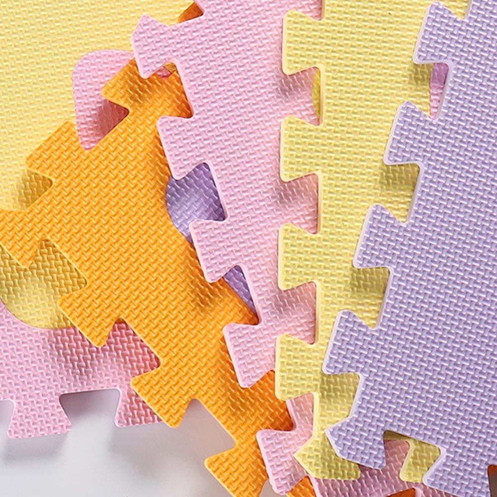 Tapis de jeu de bébé de modèle d'alphabet avec les tuiles de plancher de mousse de barrière tapis rampant pour le bébé enfant développant le tapis pour le tapis de jeu d'enfants - 5