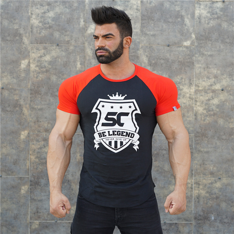 HTB1963AeYZnBKNjSZFhq6A.oXXaW 2019 new gym breathable men's muscle fitness short sleeve training bodybuilding fitness cotton sportswear T shirt clothes
