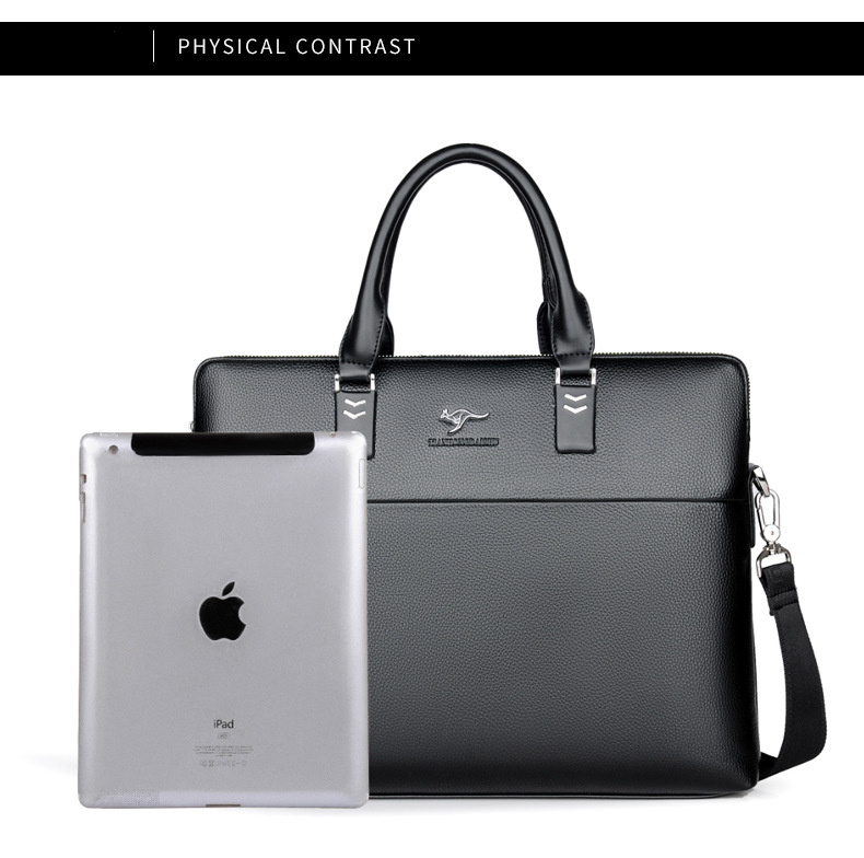 leather briefcase internal capacity for tablet showed