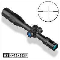 Обнаружение HS 4 14X44 SF FFP MIL длинный диапазон охотничья стрельба riflescope Rifle Scope для ar15 ak 47 объектив винтовка