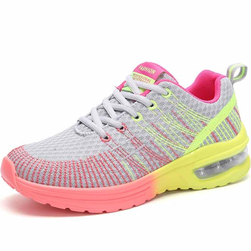 Hundunserpent respirant femmes chaussures de course femmes baskets femme chaussures de Sport Sport chaussures d'été Tennis femme rouge B-047 d'entraînement