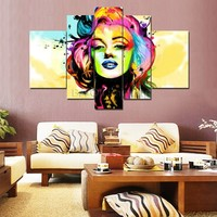 Free Shipping Hand Painted Modern Oil Painting On Canvas Poster Wall Art Home Decoration 5pcs Set