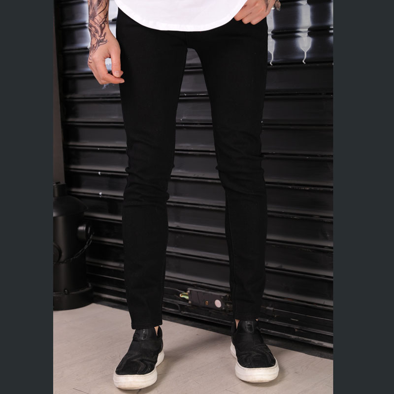 Fashion 2019 spring autumn Europe design Casual solid black skinny jeans men Casual Biker streetwear pencil pants men in Jeans from Men 39 s Clothing
