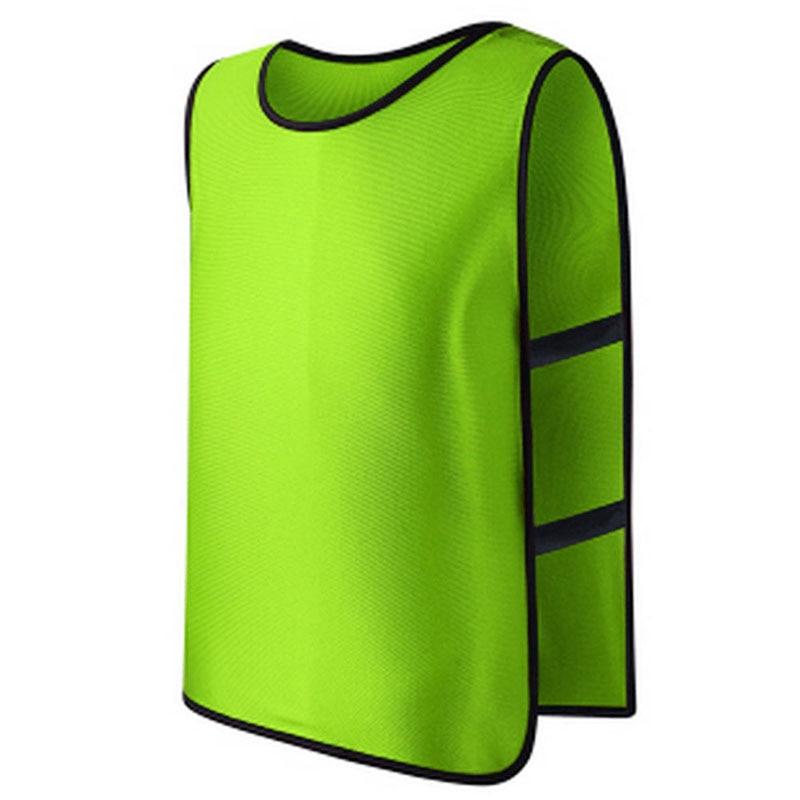 Betrouwbare Mannen Voetbal Vest Team Voetbal Training Polyester Micro Mesh Truien Vest Plus Size