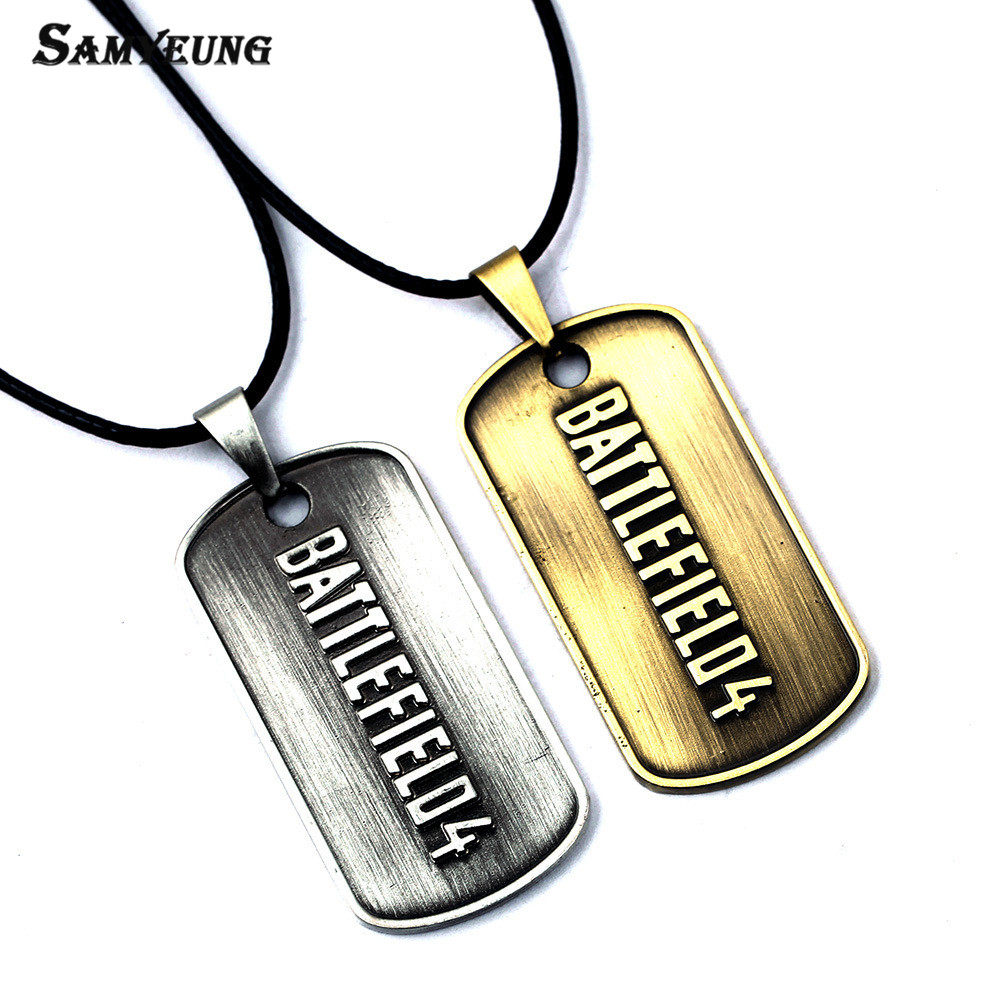 Samyeung battlefield 4 necklace for best friend stainless steel samyeung battlefield 4 necklace for best friend stainless steel bf4 dog tag necklaces male neckless anime jewelry collier homme in pendant necklaces from voltagebd Gallery