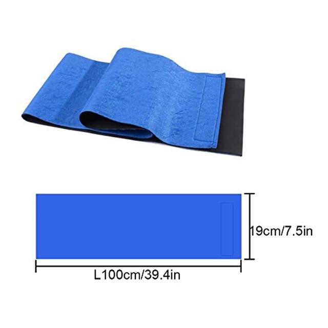 1Pcs Waist Trimmer Belt for Women Men, Sweat Workout Fitness Waist Trainer Weight Loss Adjustable Belt Belly Body Exercise Wrap 1
