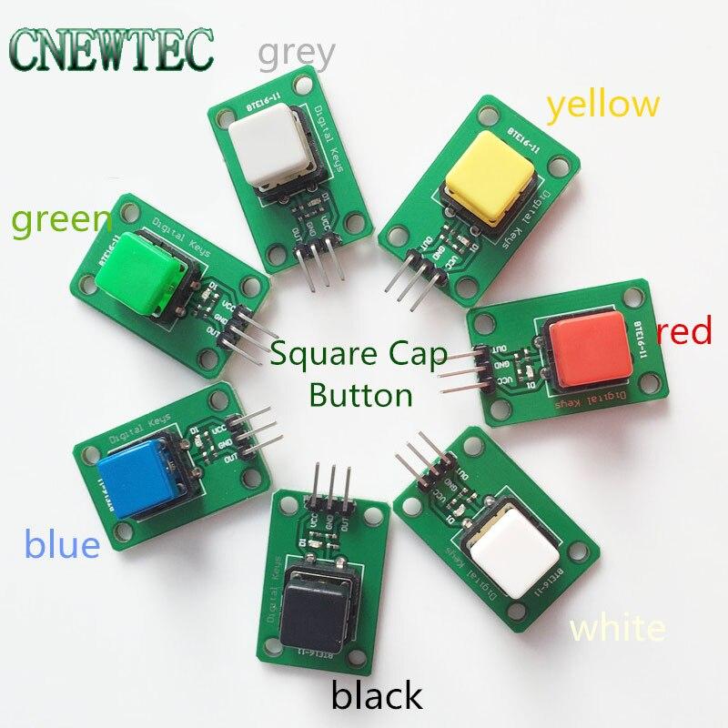 arduino Digital button module 7 color in 1 set Square cap bottom