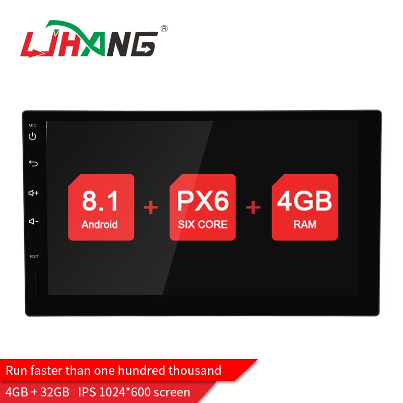LJHANG Universal Android 8.1. 2 Din Car Multimedia Player GPS Navigation Wifi Radio IPS Touch Screen Car dvd Audio Mirror-Link ouchuangbo universal touch cup mouse knob button for android car radio gps navigation system multimedia dvd player