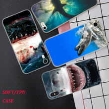 Silicone Phone Case Sharks in the Sea Fashion Printing for iPhone XS XR Max X 8 7 6 6S Plus 5 5S SE Phone Case Matte Cover silicone phone case fashion sexy marilyn monroe printing for iphone xs xr max x 8 7 6 6s plus 5 5s se phone case matte cover