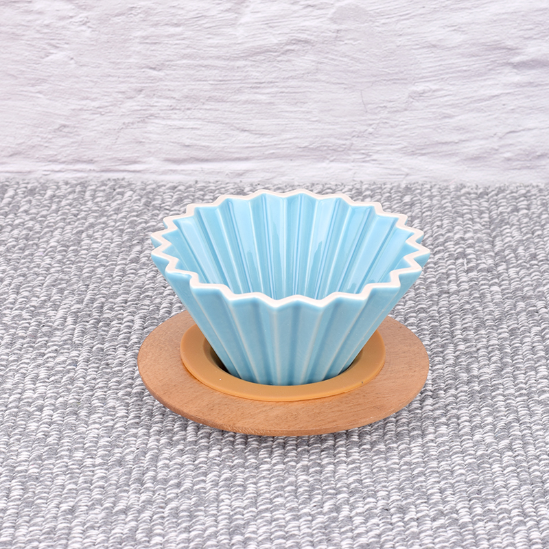 New Ceramic Coffee Filter Cup Origami dripper pour over coffee filter cup1 2cups-in Coffee Filters from Home & Garden    2