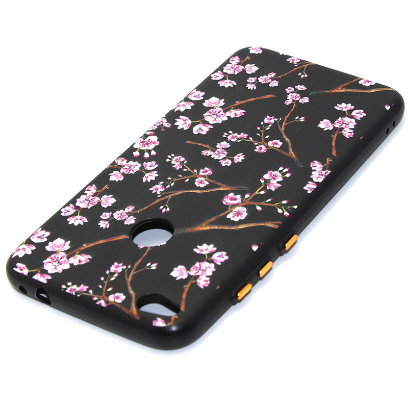 3D Relief flower silicone case huawei p8 lite 2017 honor 8 lite (32)