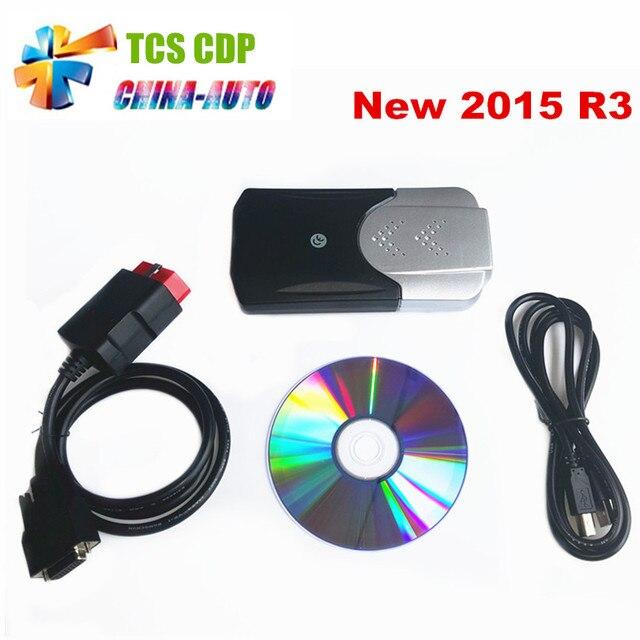 2016 Новейшие 2015. R1/2014.2 программное обеспечение Для Новых vci cdp + TCS cdp pro plus со СВЕТОДИОДНОЙ кабели СКАНЕРА для автомобилей/грузовиков так же, как мвд