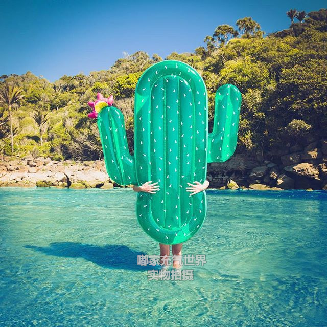 71 Inches Cactus Pool Floats Giant Inflatable Toy with Pump Summer Hot Party Supplies Beach Toys Air Mattress 180CM Floating Bed