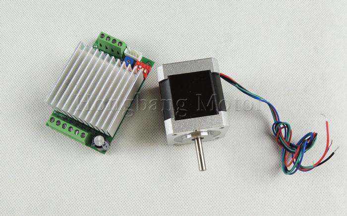 1pcs Nema17 stepper motor / 48mm 1.8A 48N.cm / 2 phase 4-wire + 1pcs TB6600 1 axis 4.5A stepper motor driver ножницы для живой изгороди 10 truper tb 17 31476