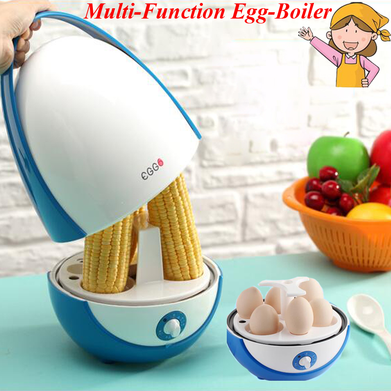 1pc New Type !!! Multi-function Egg-Boiler Household Egg Poacher Egg Cooking Machine/ Automatic Power-off Egg Steamer LHD2001 cukyi double layer multi function electric egg cooker boiler stainless steel automatic power off mini