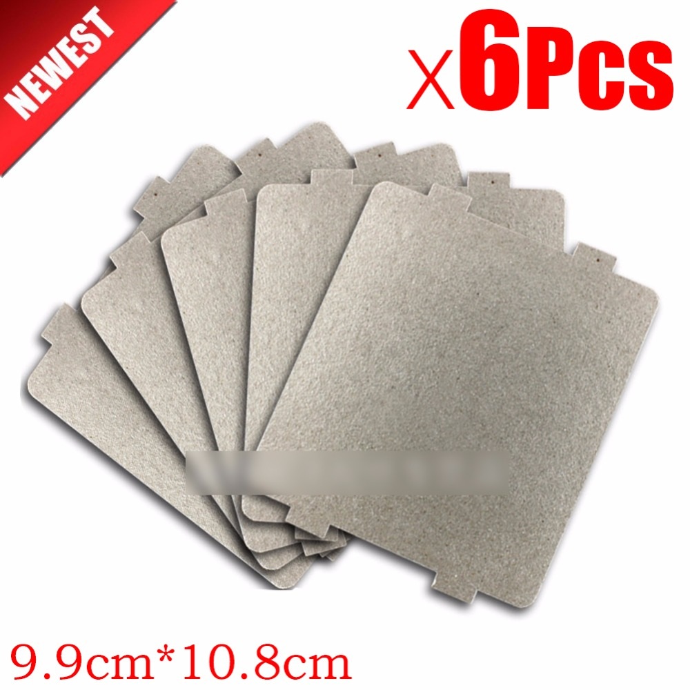 6pcs 9.9cm*10.8cmcm Spare parts thickening mica Plates microwave ovens sheets for Galanz Midea Panasonic LG etc.. magnetron cap 10pcs lot high quality microwave oven repairing part 13 x 12cm mica plates sheets for galanz etc microwave