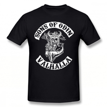 Sons Of Anarchy T Shirt Odin Valhalla Chapter T-Shirt Streetwear Awesome Tee Short-Sleeve Men 100 Cotton Tshirt
