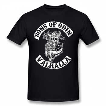 Sons Of Anarchy T Shirt Sons Of Odin Valhalla Chapter T-Shirt Streetwear Awesome Tee Shirt Short-Sleeve Men 100 Cotton Tshirt - DISCOUNT ITEM  47% OFF All Category