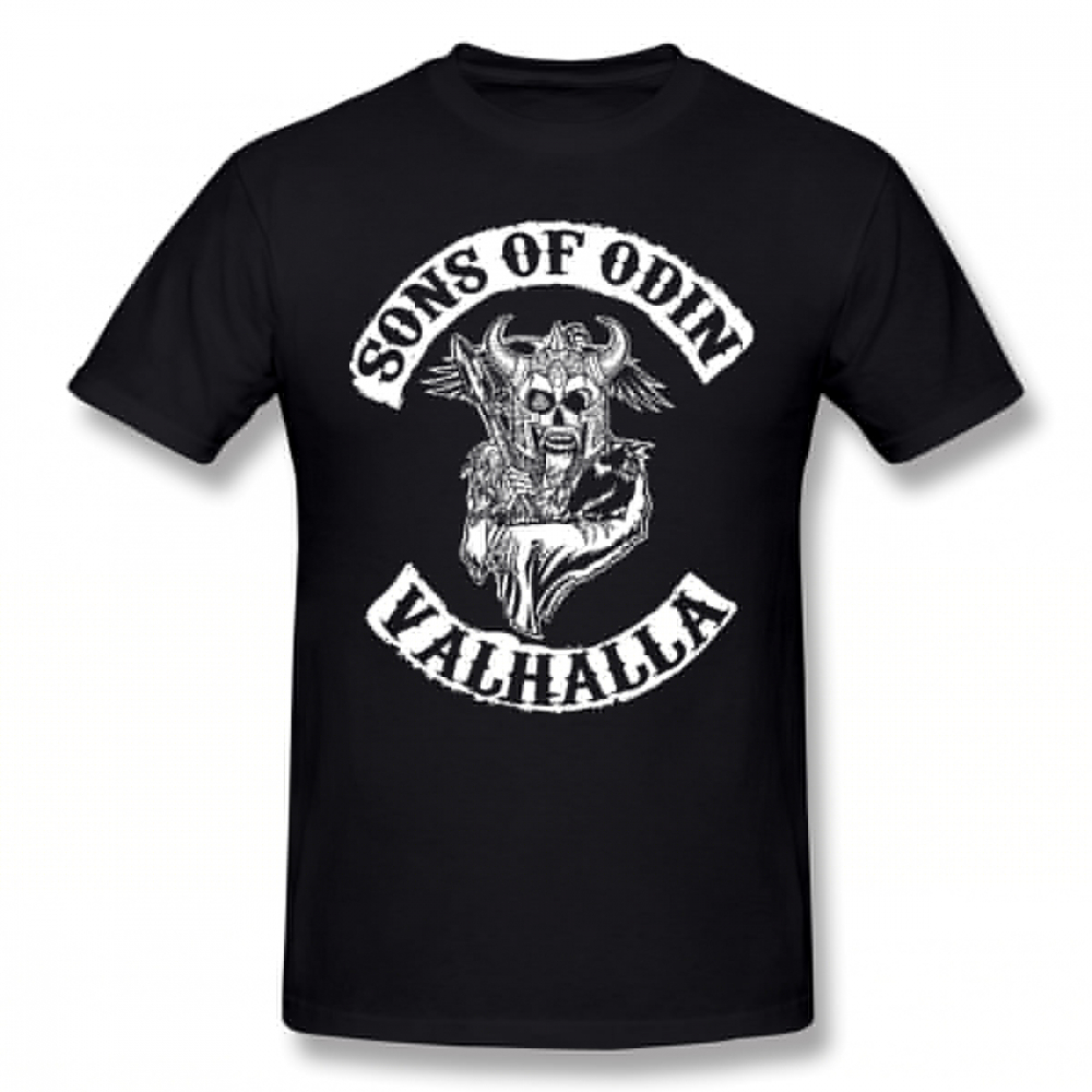 Sons Of Anarchy   T     Shirt   Sons Of Odin Valhalla Chapter   T  -  Shirt   Streetwear Awesome Tee   Shirt   Short-Sleeve Men 100 Cotton Tshirt