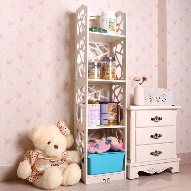 New Arrival 4 Tiers Wood Carving Book Shelf Waterproof Shoes Rack Shelves Home Organizer Furniture 120*30*23cm