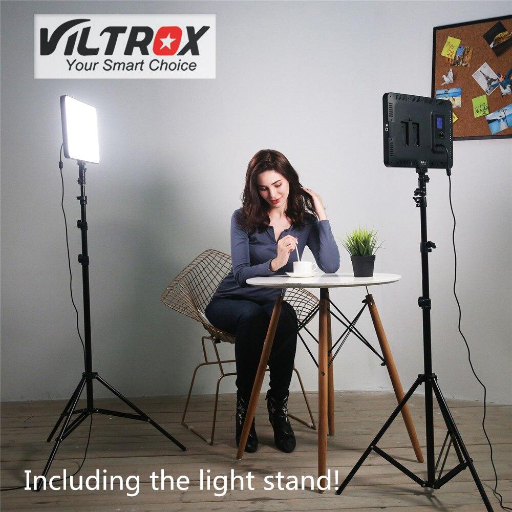 Viltrox VL-400T 40 w Caméra LED Studio Vidéo Lumière Bi-couleur Dimmable + Télécommande + Lumière stand Pour facebook YouTube spectacle