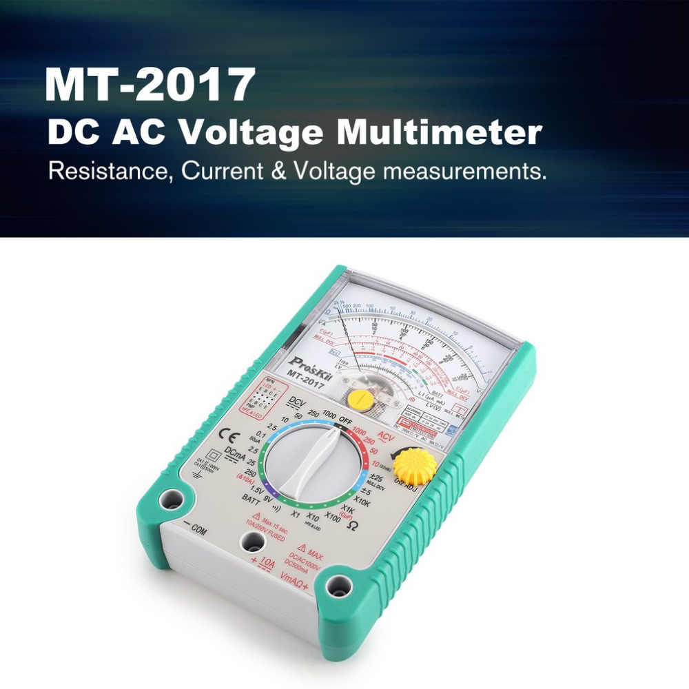 MT-2017 MT-2018 Analog Multimeter Safety Standard Ohm Test Meter DC AC Voltage Current Resistance Multimeter