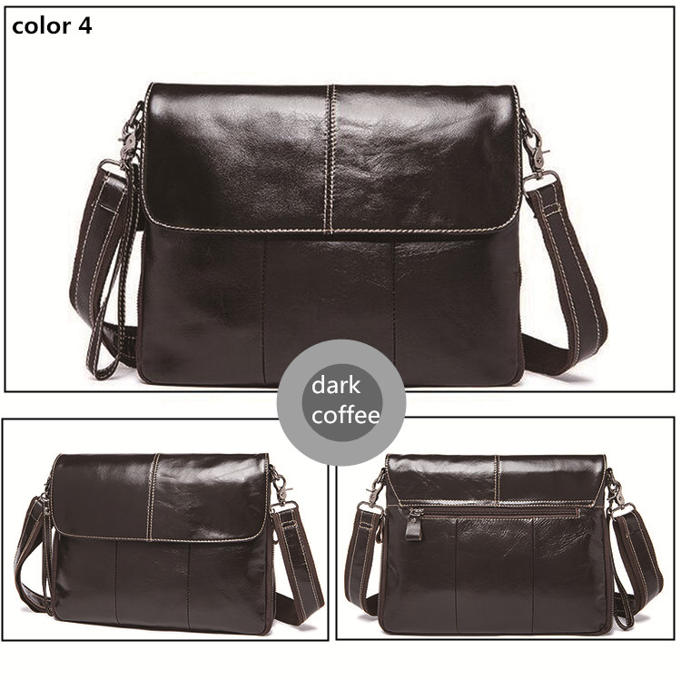 Men's Bags Genuine leather crossbody bags male Zipper Shoulder messenger bag men leather men Clutch bag Flap big capacity