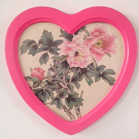 New Heart Shaped Wooden Picture Frame Photo Frames Wall Decoration Kader Wood Box Frame Pink Wedding