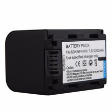 2200mAh NP-FH70 Battery For Sony NP-FV100 NP-FH30 NP-FH40 NP-FH60 NP-FH50 NP-FH70 HDR-SR/XR HDR-CX/UX/HC Series Battery Bateria