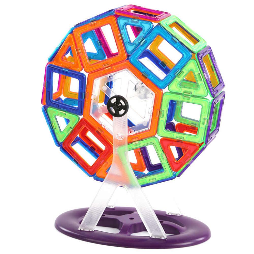1PCS ขนาดใหญ่บล็อกแม่เหล็กก่อสร้างชุด 3D ชุดอาคาร Constructor แม่เหล็ก Designer แม่เหล็กของเล่นสำหรับของขวัญเด็ก
