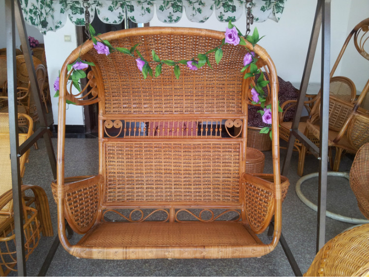 rattan chair rattan furniture cane basket swing double loungers