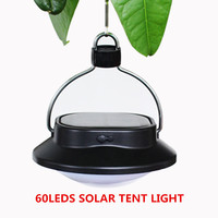 60leds Solar Powered Led Lamp Waterproof Outdoor Lighting Rechargeable New Solar Tent Light Garden Light Portable