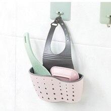 Adjustable Snap Sink Rack Hanging Kitchen Organizer Soap Sponge Drain Bathroom Holder Accessories Wash