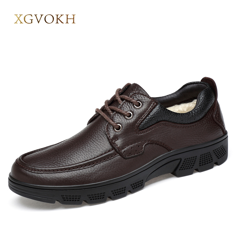 Men Shoes Cow Leather Big Sizes Fashion Handmade Keep Warm Winter/Spring/Autumn Black Flats Xgvokh Brand Comfortable Casual Shoe micro micro 2017 brand men casual shoes comfortable spring fashion breathable men white shoes microfiber leather shoe 1881