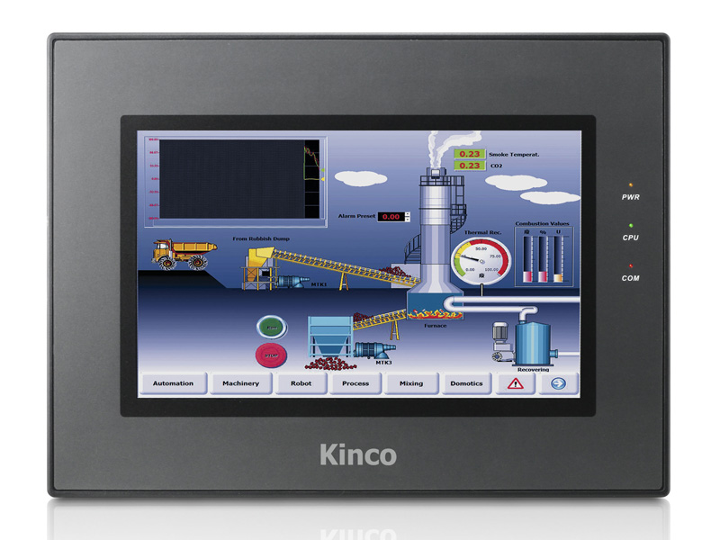 Original HMI MT4512TE, Kinco 10.1'' TFT Display Touch Panel with Program Cable & Software, 800*480,Ethernet Support, 2 COM Ports new original kinco mt4434te hmi with program cable