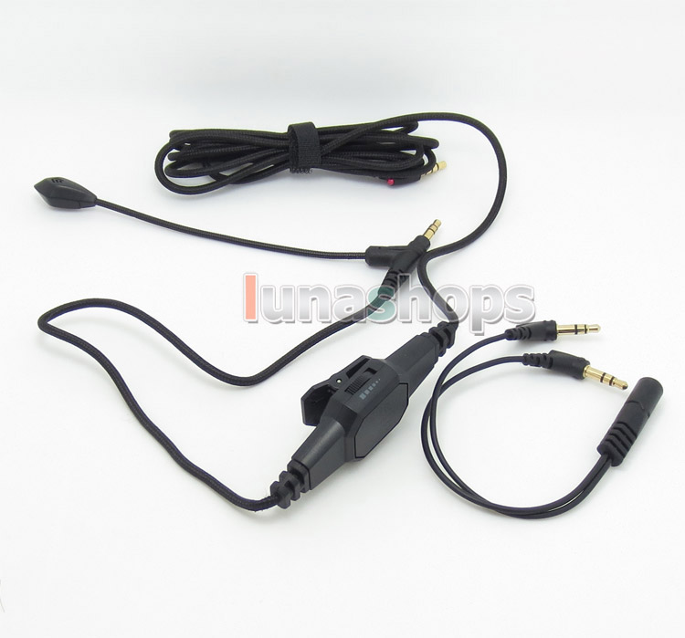 Replaced Detach Boompro Line Gaming Computer Cable Mic For V-MODA LP M100 LP2 M-80 V-80 SOLO STUDIO MIXR Aviator Hesh LN004525