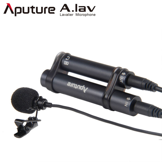 Aputure A.lav Lapel Microphone Clip-on Lavalier Omnidirectional Condenser Mic Recording for iPhone Samsung Smartphone