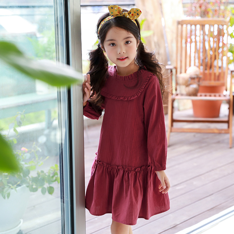 2018 Girl Party Dress Spring A-line Kids Dress For Girls Autumn Princess Dresses Children 2-14 Clothes Girl Long Sleeve Clothing 2016 toddler flower girl dress winter children girl clothing autumn kid clothes brand long sleeve princess party wedding vintage