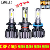 BAGELED CSP Chips H4 LED H7 H11 Led Headlight 9005 9006 hb3 hb4 880 H13 9004 9007 Headlamp 8000LM 6500K 4500K 3000K 8000K