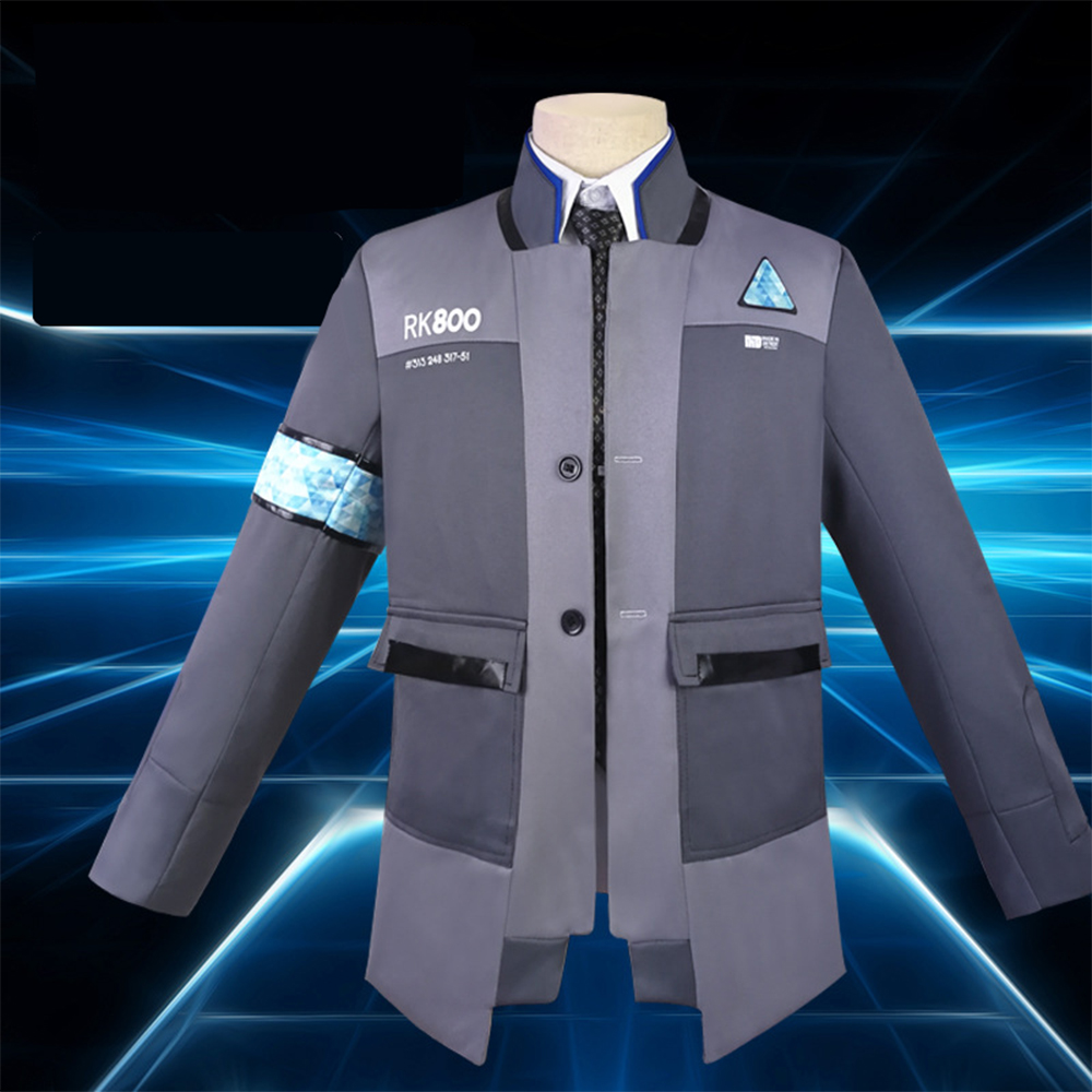 Game Detroit: Become Human Connor RK800 Jacket Cosplay Costume Agent Suit Halloween Carnival Coat Uniform Suit Customize