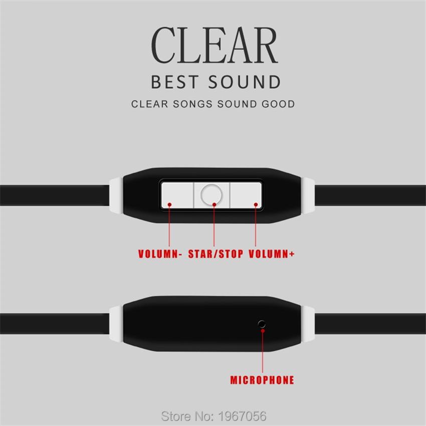 Fonge Sport Hörlurar Hörlurar 3.5mm Jack Wired Bästa Bass In-Ear - Bärbar ljud och video - Foto 3