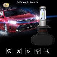 SNCN LED S1 Headlights 25W 4000LM PI65 High Low Beam H4 H13 9004 9007 Auto Light