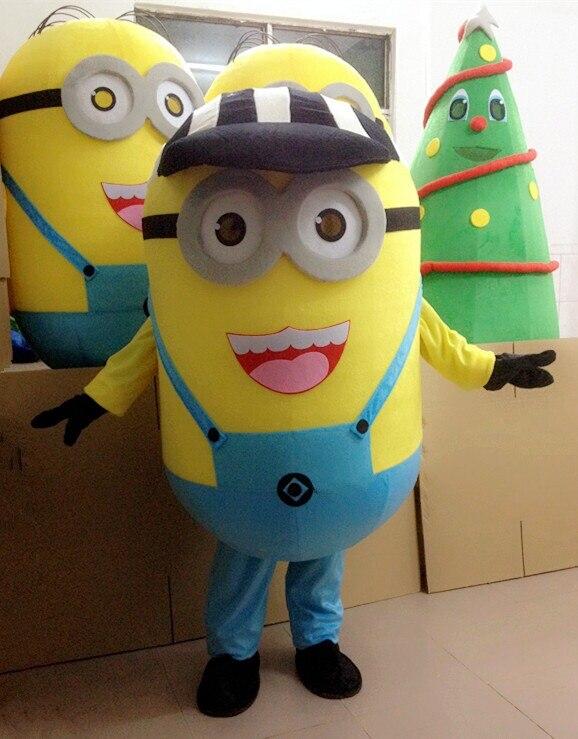 Méprisable moi 2 mascotte Costume méprisable moi minion et Minnie souris mascotte Costume mascotte fantaisie dessin animé costume livraison gratuite
